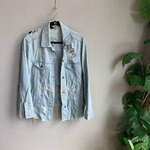 H&M Distressed Jean Jacket